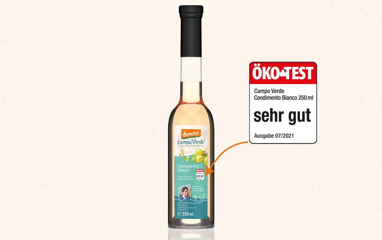 ÖKO-TEST: Unser Condimento Bianco ist der Favorit!